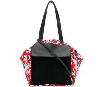 Geblümte Handtasche mit Vordertasche