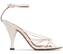 Sandalen mit überkreuzten Riemen, 100mm
