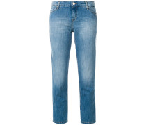 Schmale Cropped-Jeans