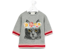 - T-Shirt mit Katzen-Print - kids