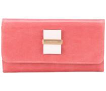 - bow foldover continental wallet - women