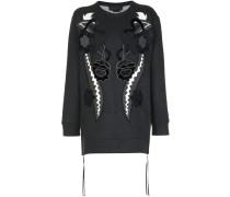 Sweatshirt mit Samt-Patchwork-Design