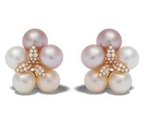 18kt Rotgoldohrringe mit Perlen