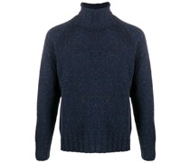 roll neck speckled knit
