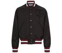 logo embroidered bomber jacket