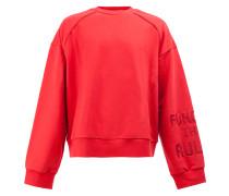 Sweatshirt mit bestickten Ärmeln