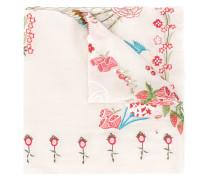 Schal mit floraler Stickerei