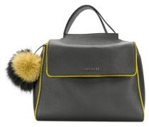 Handtasche mit Pompon