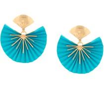 24kt vergoldete Ohrringe mit Fächerform