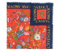Flora snake print shawl