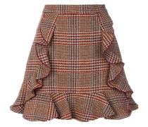 ruffled check skirt