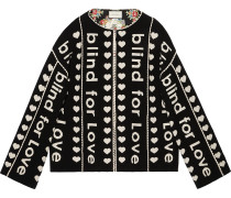 Blind for Love jacquard wool coat