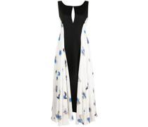 Kleid mit geblümtem Einsatz
