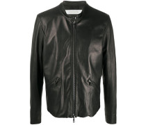 zip-up biker jacket
