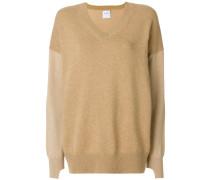 contrast sleeve sweater