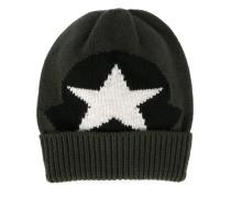 star logo knit beanie