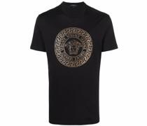 T-Shirt mit Medusa-Kristallapplikation