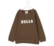 hello print sweatshirt