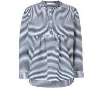 collarless striped shirt