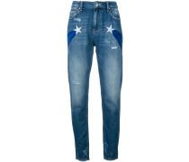 Jeans mit Sternmotiven - women - Baumwolle - 25