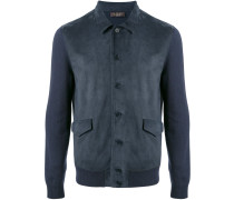 contrast sleeve bomber jacket - men