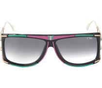 Sonnenbrille mit eckigem Rahmen