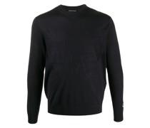 Fein gestrickter Pullover mit Logo