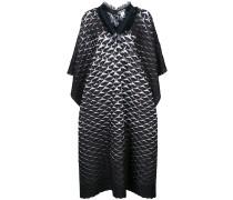 frayed neck oversized dress