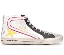 Slide high-top sneakers
