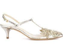Pumps mit floraler Stickerei - women