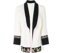 Jacke mit floralem Einsatz