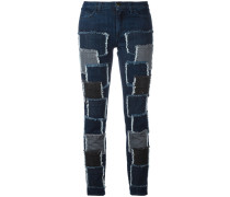Jeans mit Patches - women - Baumwolle/Elastan