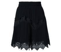 Shorts mit Spitzensaum