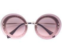 Sonnenbrille mit Glitzerapplikationen