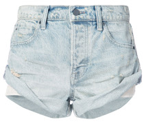 vintage-style rolled shorts