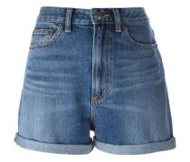 Jeans-Shorts mit Paillettenverzierung