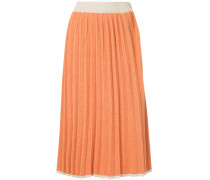 knitted pleated midi skirt