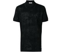 logo jacquard polo shirt