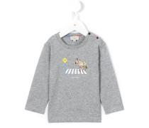 zebra crossing logo print T-shirt