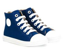 HighTopSneakers mit Kontrastkappe