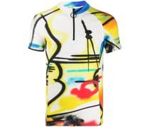 Schmales T-Shirt mit Spray-Print