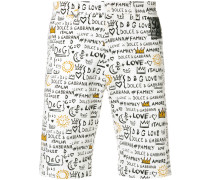 Shorts mit Grafitti-Print