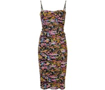 embroidered fitted midi dress