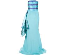 Trägerloses Abendkleid aus Seide
