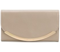 metallic flap wallet