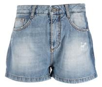 Halbhohe Jeans-Shorts