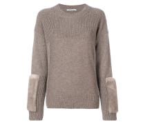 Pullover mit Nerzpelz-Patches