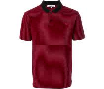 Swallow badge striped polo shirt