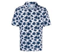 Poloshirt mit Palmen-Print