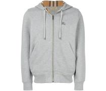 check zipped hoodie